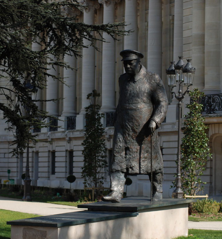 Statue de Sir Winston Churchill Paris (photo Didier Bernheim)